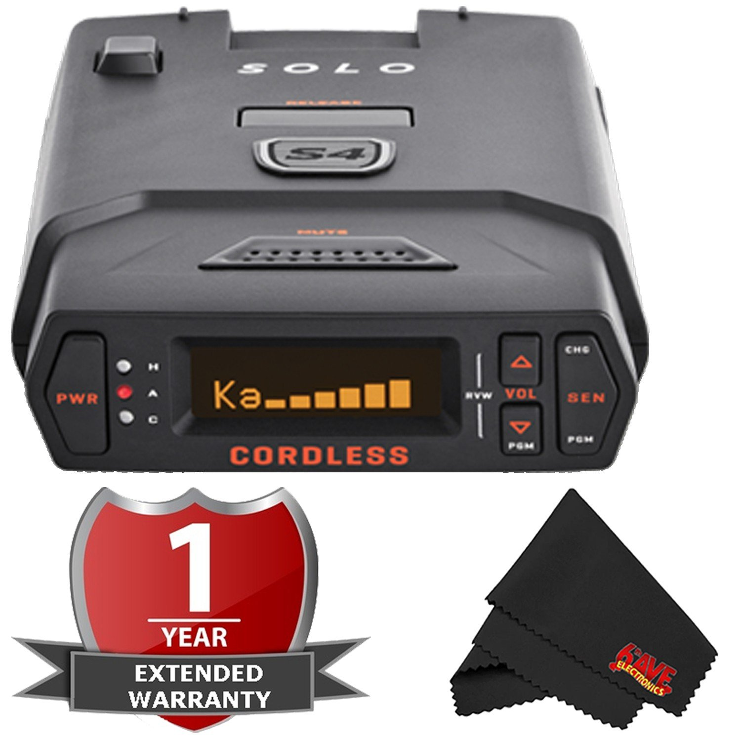 Escort Solo S4 Cordless OLED Display Long Range Laser/Radar Detector with 2 Year Warranty
