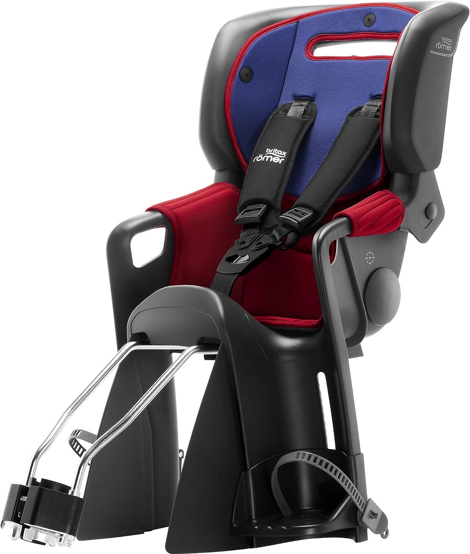 Britax Römer Silla de bicicleta para niños 9 meses a 5 años | 9-22 kg | JOCKEY 3 COMFORT | blue/red