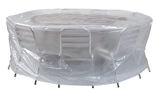 HOUSSE RONDE POUR TABLE DE SALON DE JARDIN diam 200 x H80: Amazon ...