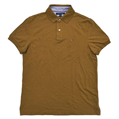 e57b2d924bb Tommy Hilfiger Men s Short Sleeve Polo Shirt in Custom Fit at Amazon ...