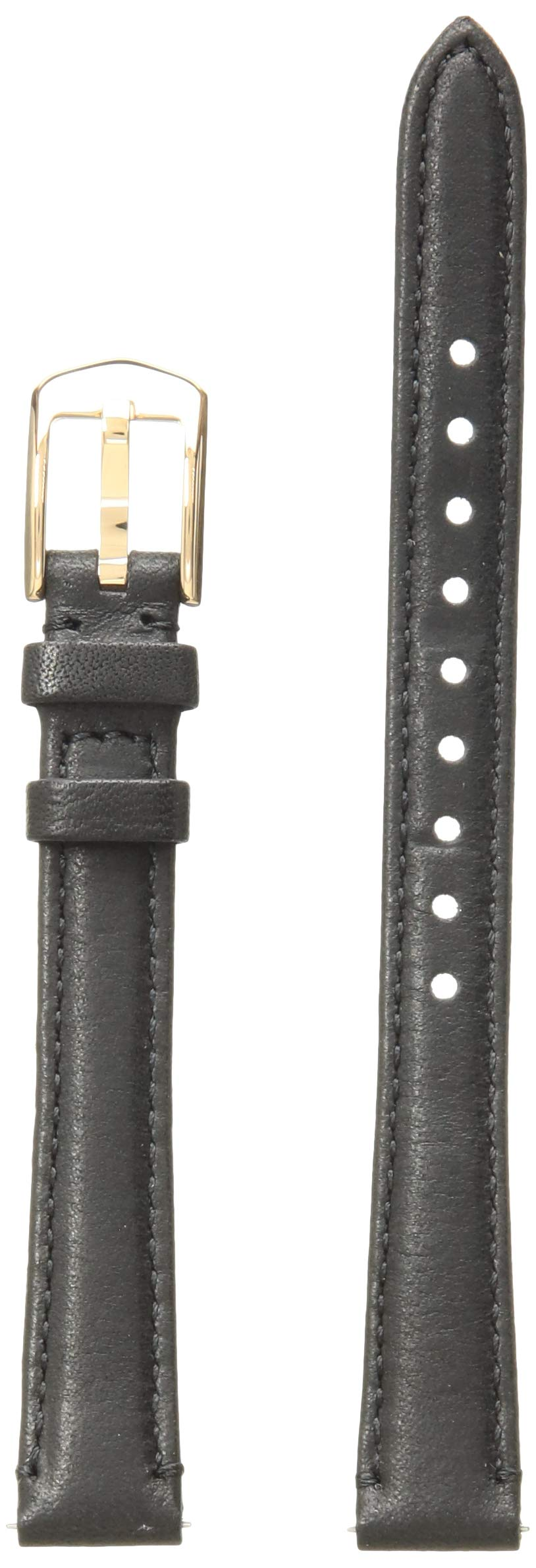 Fossil Women's 12mm Leather Watch Band Color: Black (Model: S121023)