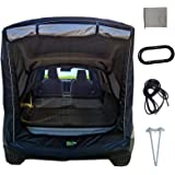 Car Trunk Tent, SUV Shade Awning Sun Shelter, Portable Rainproof Auto Canopy Kit, Car Camper Tail Extension Tent, for Self-Dr