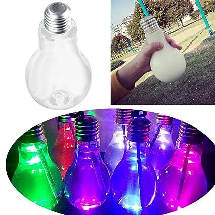 300 ml LED Bujía Extremo lámpara Agua Botella Fiesta de cumpleaños Boda Cristal de plástico geführt
