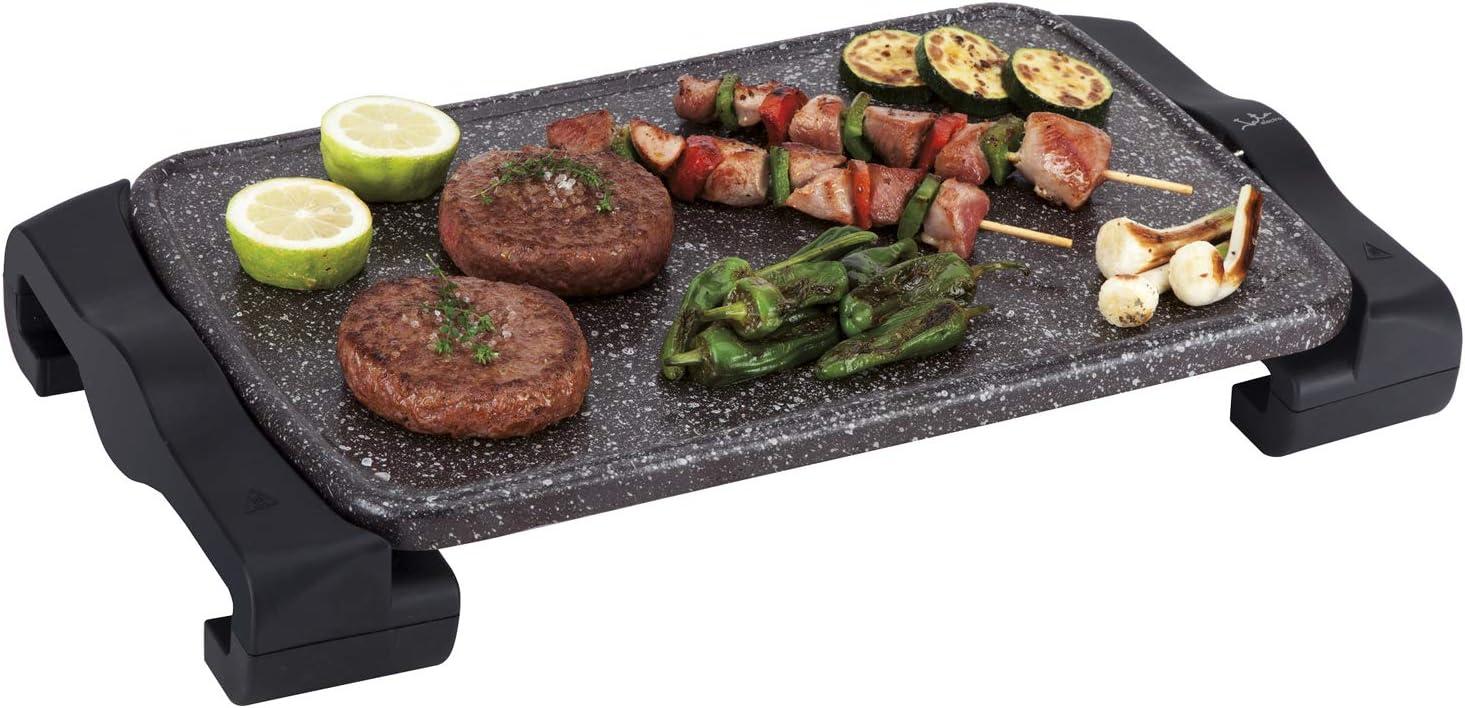 Jata GR669 Plancha de Asar de Terracota Superficie 46 x 28 cm que No se raya Para Cocinar Carnes y Pescados Fabricada Artesanalmente en España