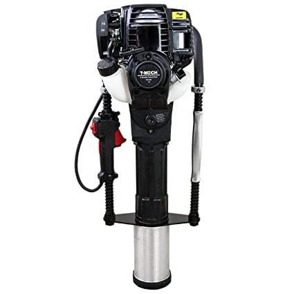 T-Mech Petrol Post Driver 4-Stroke 40cc Posts Fence Knocker Driving Picket  Fencing Hammer Ramming Thumper/Carry Case & Tool Kit