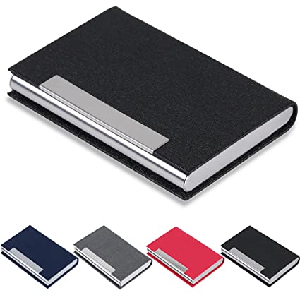 Amazon business card holder junelsy business card case pu business card holder junelsy business card case pu leather and stainless steel card holder for colourmoves
