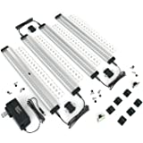 EShine 4 Panels 12 Inch LED Dimmable Under Cabinet Lighting Kit, Hand Wave Activated - Touchless Dimming Control, Cool White (6000K)