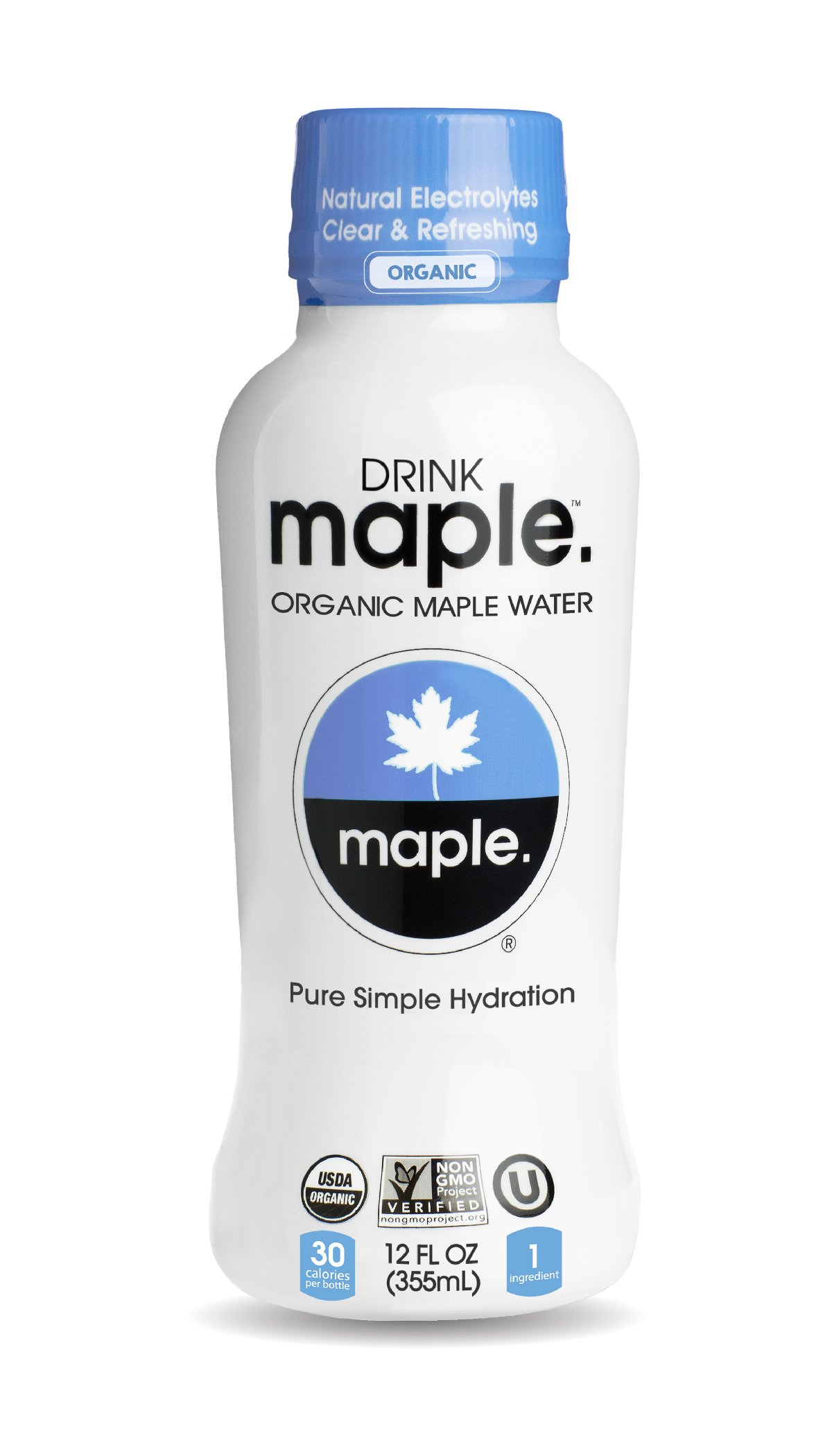 DRINKmaple Maple Water – Organic, Non-GMO, Gluten Free, Vegan Natural Hydration – Low Sugar Coconut Water Alternative – 12 Fluid Ounce (Pack of 12)