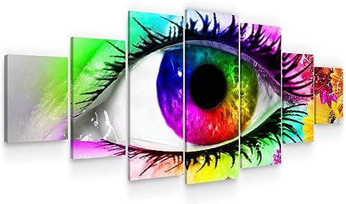 Startonight Huge Canvas Wall Art Colorful Eye