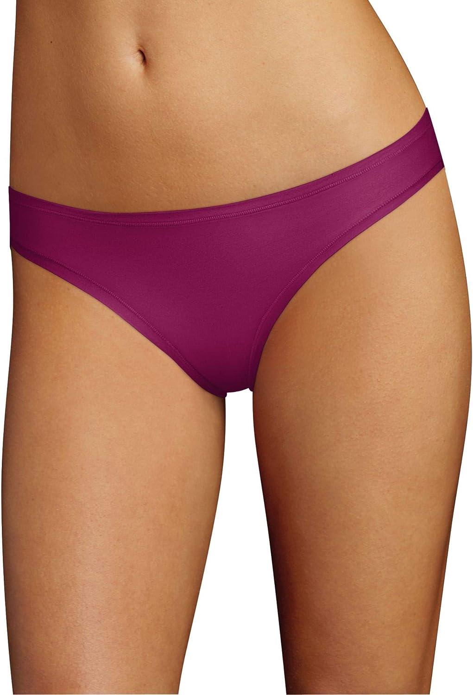 Hanes Womens Comfort Flex Fit Microfiber Thong Panty Pack of 6