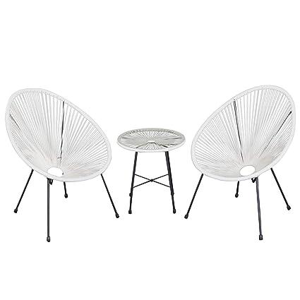 Ensemble Salon de Jardin Design néo-rétro Acapulco 2 fauteuils et ...