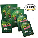 """[Pack of 4] Large Size Peanut Butter Scented Mouse Glue Trap, Sticky Super Hold Glue Board Traps for Mice Rats Rodents Cockroaches Bugs Ants Spiders Scorpions (4, 8.46"""" x 13"""")"""
