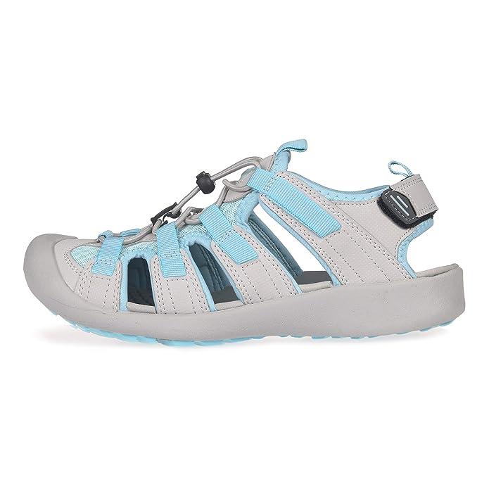 GRITION Al Aire Libre Sandalias Trek para Mujer Playa con Puntera Cerrada Senderismo Pescador Ligeras Exterior Zapatos de Verano