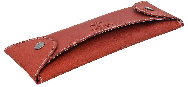 Gusti Leder studio porta penne portacolori astuccio università ufficio vintage vera pelle di bufalo unisex marrone rosso 2S6-22-10