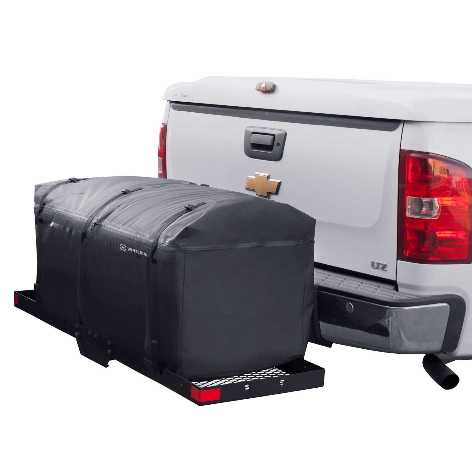 Winterial Hitch Cargo Carrier Bag. Expandable, Road Trip Water Resistant, Weatherproof, Cargo Bag Rain, Snow, Dirt