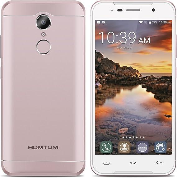 HOMTOM HT37 Pro 4G Smartphone Libre, 5.0 Pulgada HD Pantalla MTK6737 Quad-Core 1.3GHz CPU Android 7.0 3GB RAM 32GB ROM 8.0MP + 13.0MP C¨¢Mara 3000mAh Bater¨ªa Dual SIM Huella Digital: Amazon.es: Electrónica