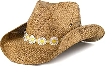 Shyanne Women s Daisy Hat Band Straw - Shd9670-Tea-O b008d4dbfaa7