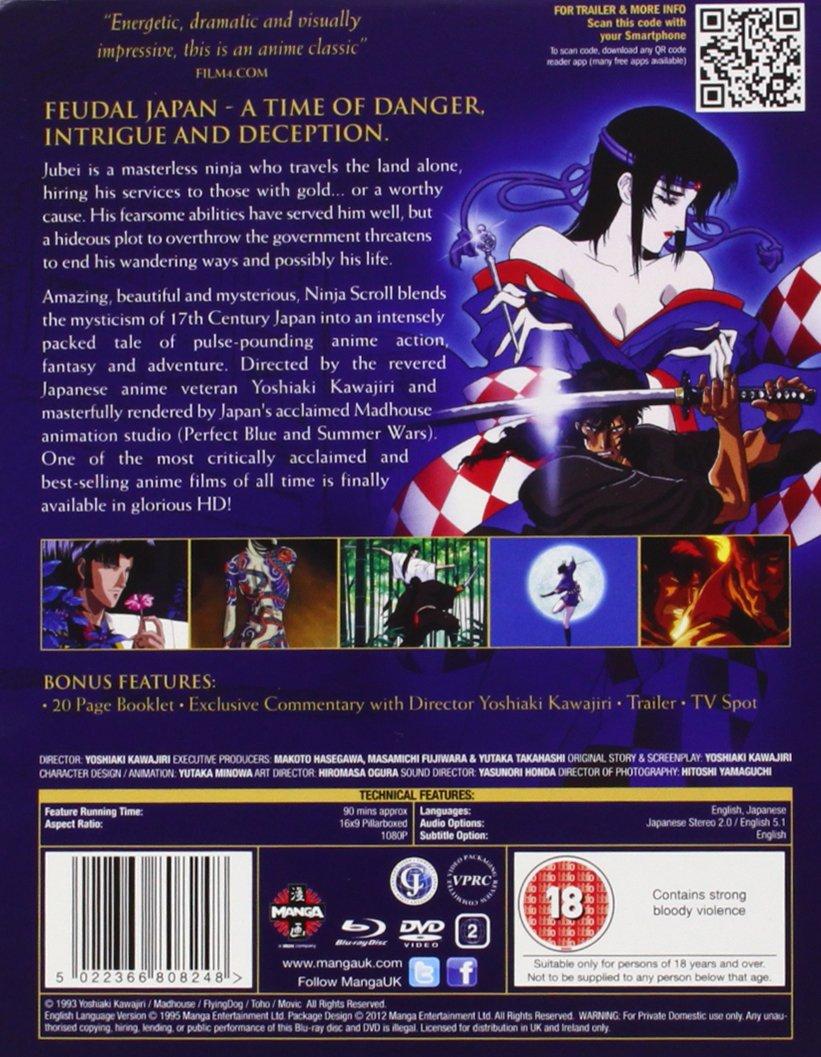 Ninja Scroll Blu-ray/DVD Steelbook [Reino Unido]: Amazon.es ...