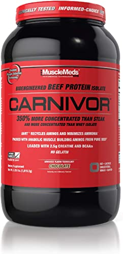 MuscleMeds Carnivor Beef Protein Isolate Powder, Chocolate, 2 Pound