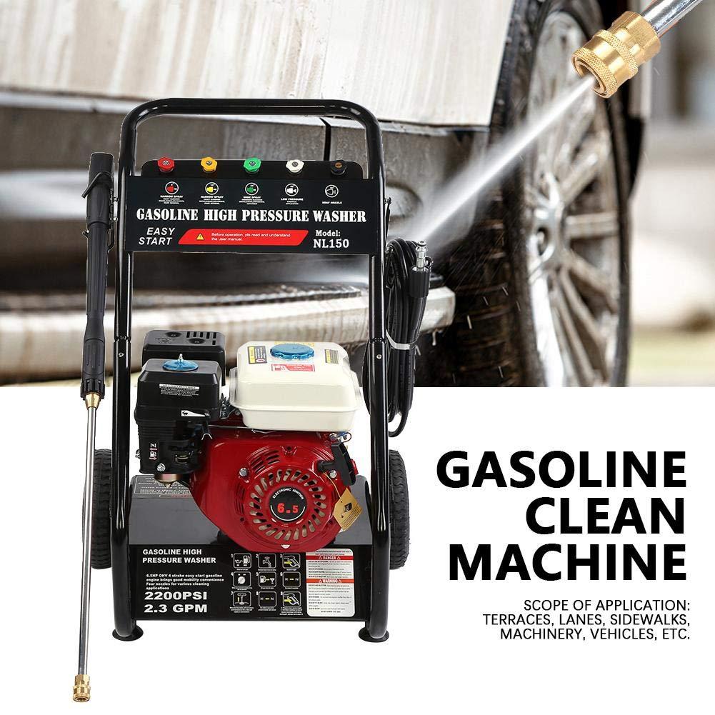 Qinlorgo M/áquina de Limpieza de Alta presi/ón Lavadora de Alta presi/ón el/éctrica 180bar 6.5PH M/áquina de Limpieza de Gasolina de 196cc