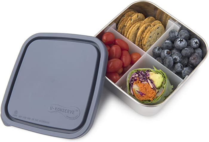U-Konserve Divided To-Go Medium Stainless Steel Container 30oz - Ocean