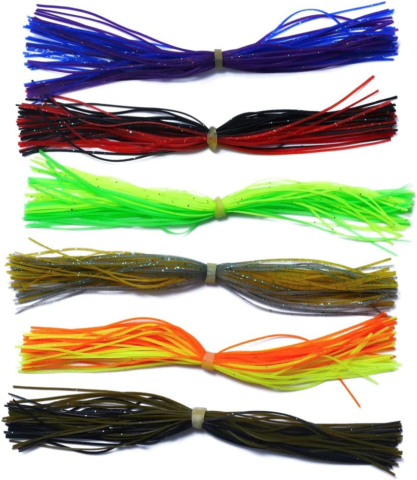 10 Custom Made Silicone Spinnerbait Skirts -Bass Fishing-Fishing Clear//Red Tips