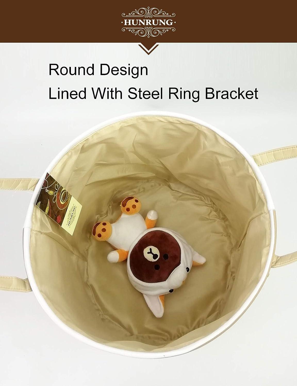 HUNRUNG Easter Gift Basket Large Laundry Hamper,Cartoon Organizer Bin for Baby Nursery,Toys,Laundry,Baby Clothing,Gift Baskets Blue Deer