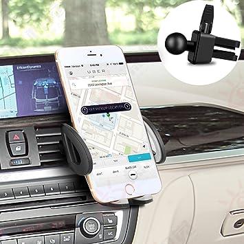 Soporte Móvil Coche, Soporte Para Coche Universal Soporte Smartphone Para Rejillas del Aire de Coche Para