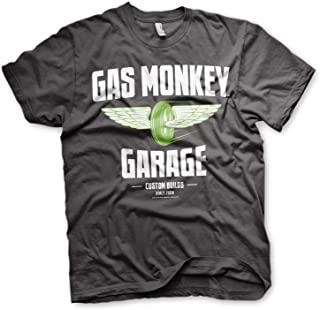 Gas Monkey Garage Officially Licensed - Speed Wheels T-Shirt Maglia Maglietta GMG