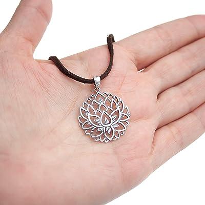 Boho Chic Chakra Necklace Lotus Charm Necklace