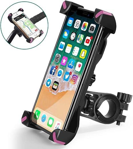 QMEET Soporte de teléfono para Bicicleta con rotación de 360 ...