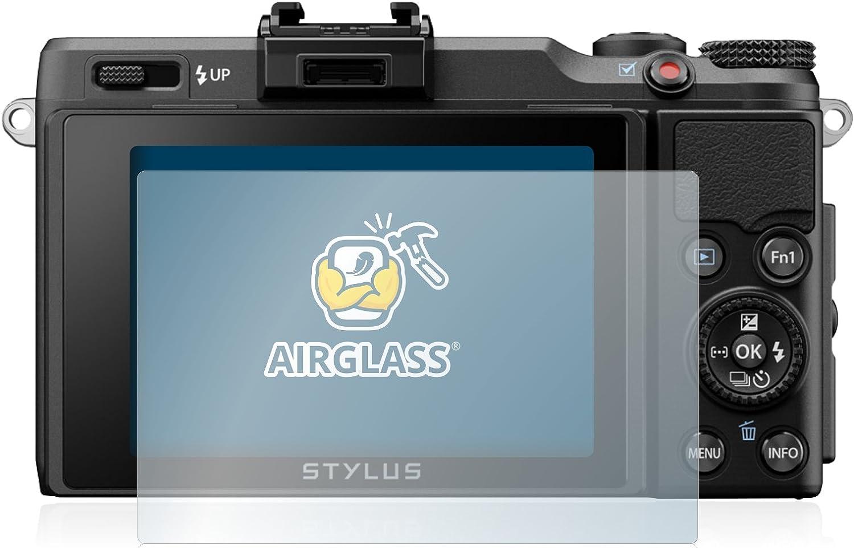 AirGlass Anti-Fingerprint extrem Kratzfest Ultra-transparent BROTECT Panzerglas Schutzfolie kompatibel mit Olympus Stylus XZ-2