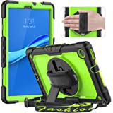 Timecity Case for Lenovo Tab M10 Plus 10.3 Inch 2020, Full-body Shockproof Tablet Cover with Screen Protector, 360° Rotating