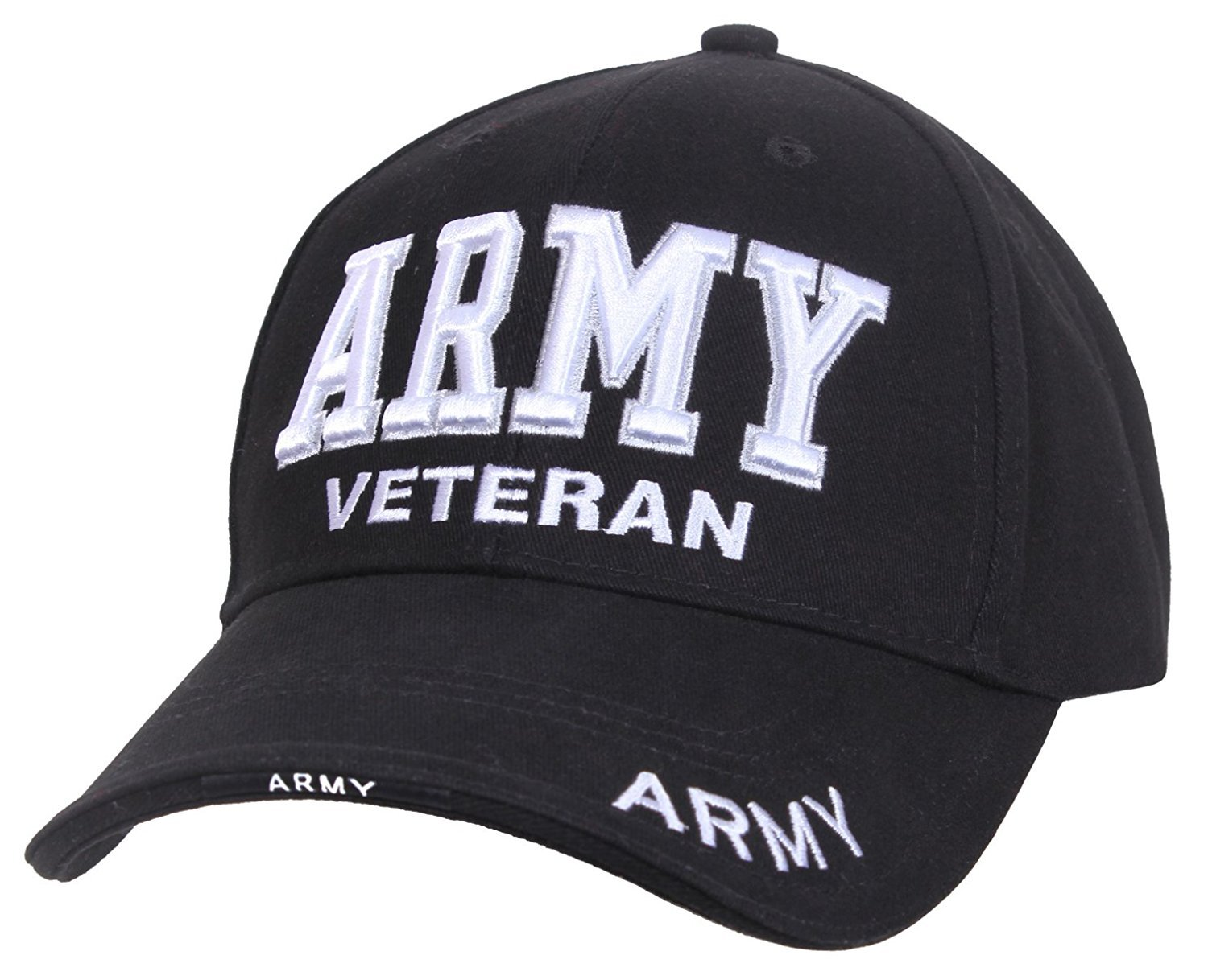 Rothco Deluxe Army Veteran Low Profile Cap - Black