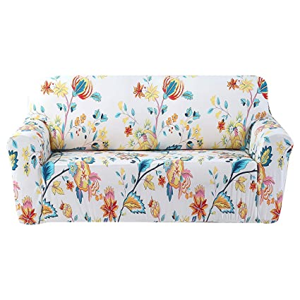 FORCHEER Stretch Couch Covers Sofa Slipcovers Fitted Loveseat Cover Seat  Furniture Protector (Printed #4