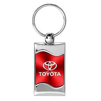 Amazon Com Toyota Logo Wave Red Key Chain Automotive