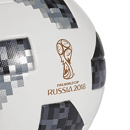 27f7e0e86d Amazon.com   adidas World Cup 2018 Omb Soccer Ball Pro White Black   Sports    Outdoors