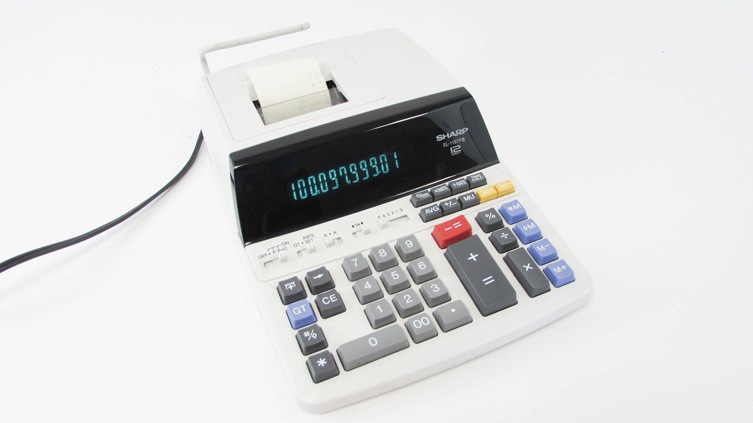 SHARP EL-1197PIII 12-Digit Electronic Printing Calculator by Sharp
