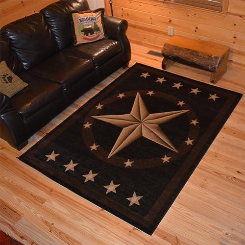 Rustic Lodge Living Room Rug