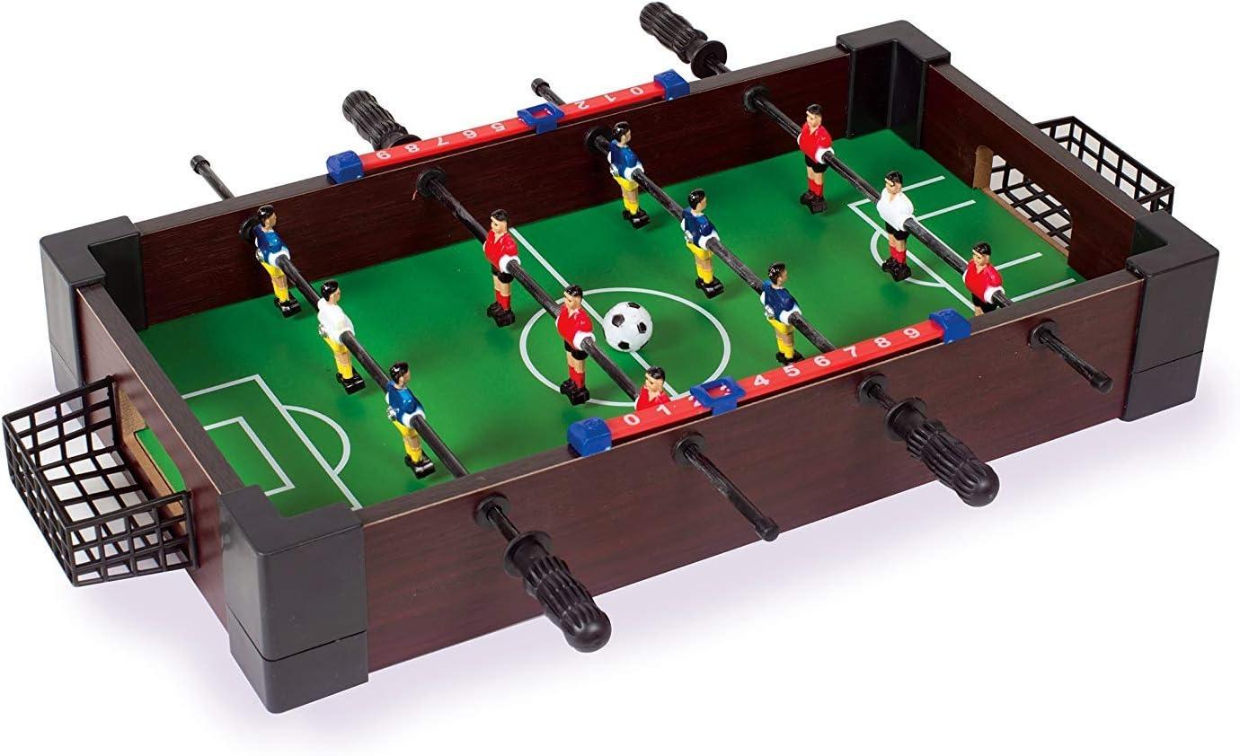 SHMZQ Mini Mesa de Madera Fútbol Entretenimiento Mesas de fútbol Niños Mesa de niños Máquina de fútbol Juego de Mesa Niños Juguetes Regalos Regalos de cumpleaños Verdes Juguetes Juegos de Interior: Amazon.es: