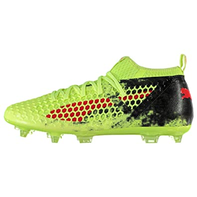 Puma Future 18.2 Firm Ground Football Boots Mens Yellow Red Black Soccer  Cleats bb22ae78d
