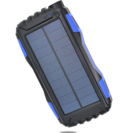 Amazon.com: Impermeable Solar Power Bank, 25000 mAh-dual USB ...