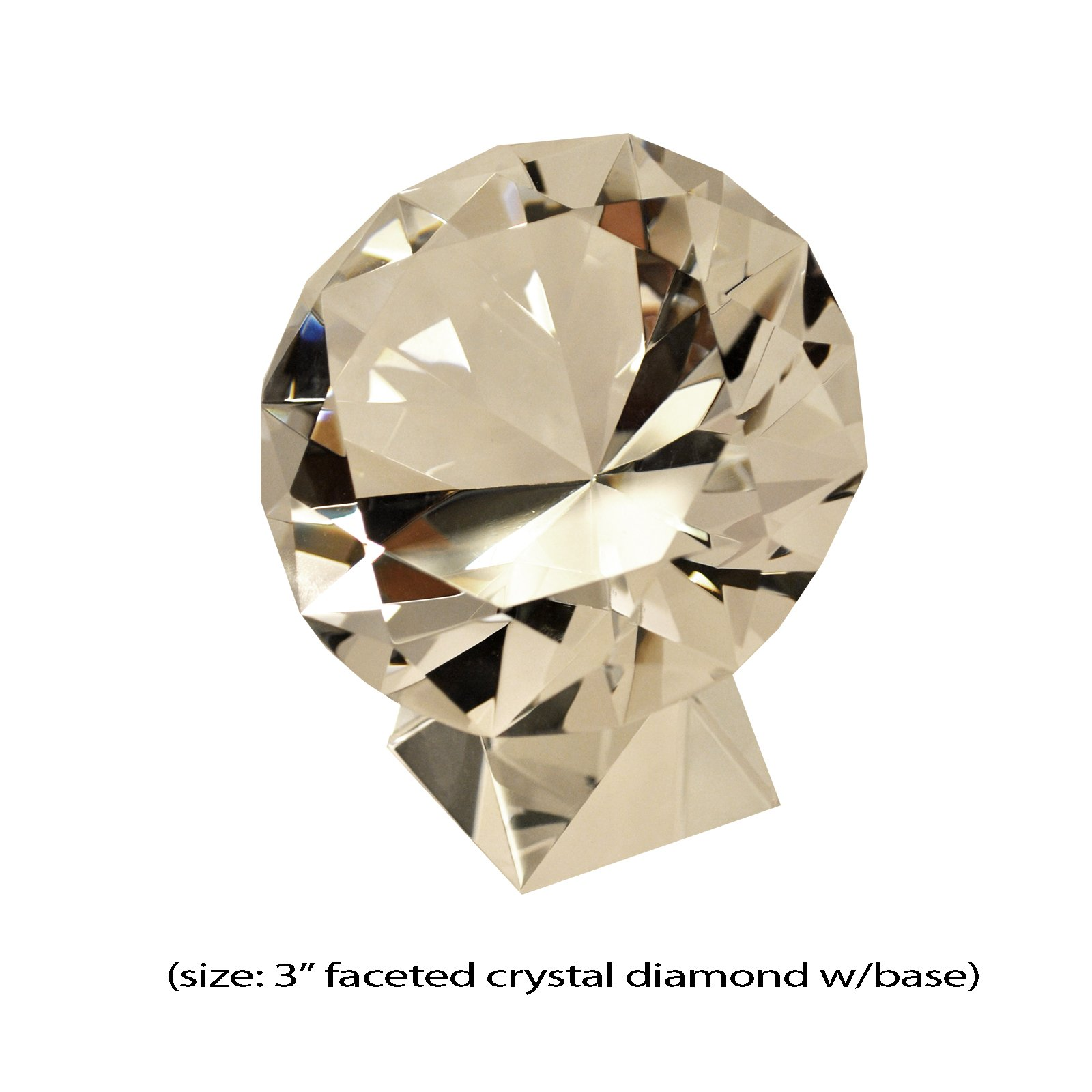 Faceted Crystal Diamond with Base