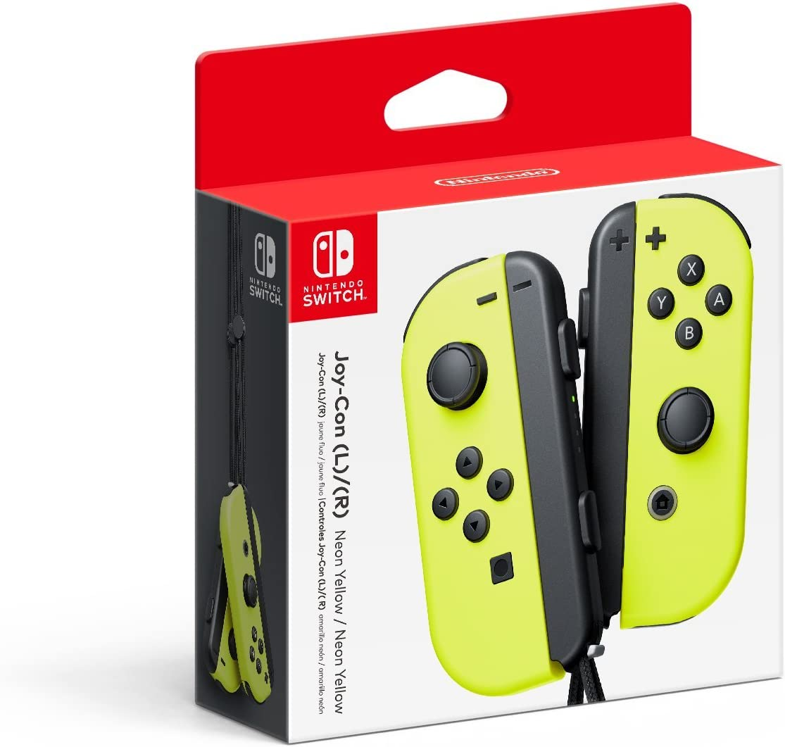 Amazon.com: Nintendo Joy-Con (L/R) - Neon Yellow: nintendo ...