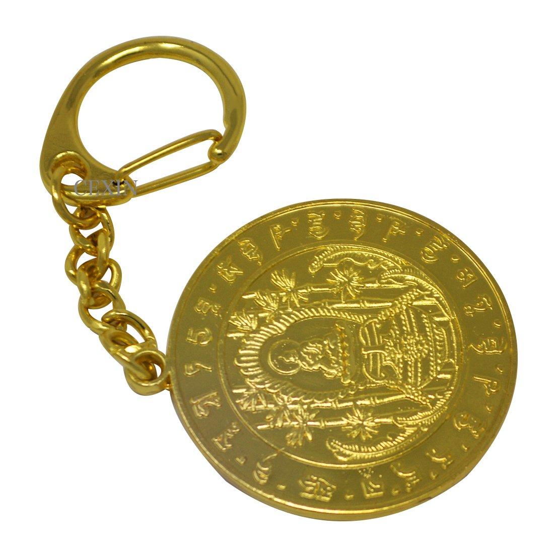 Medallón de curación de Buda de la medicina Fengshui llavero ...