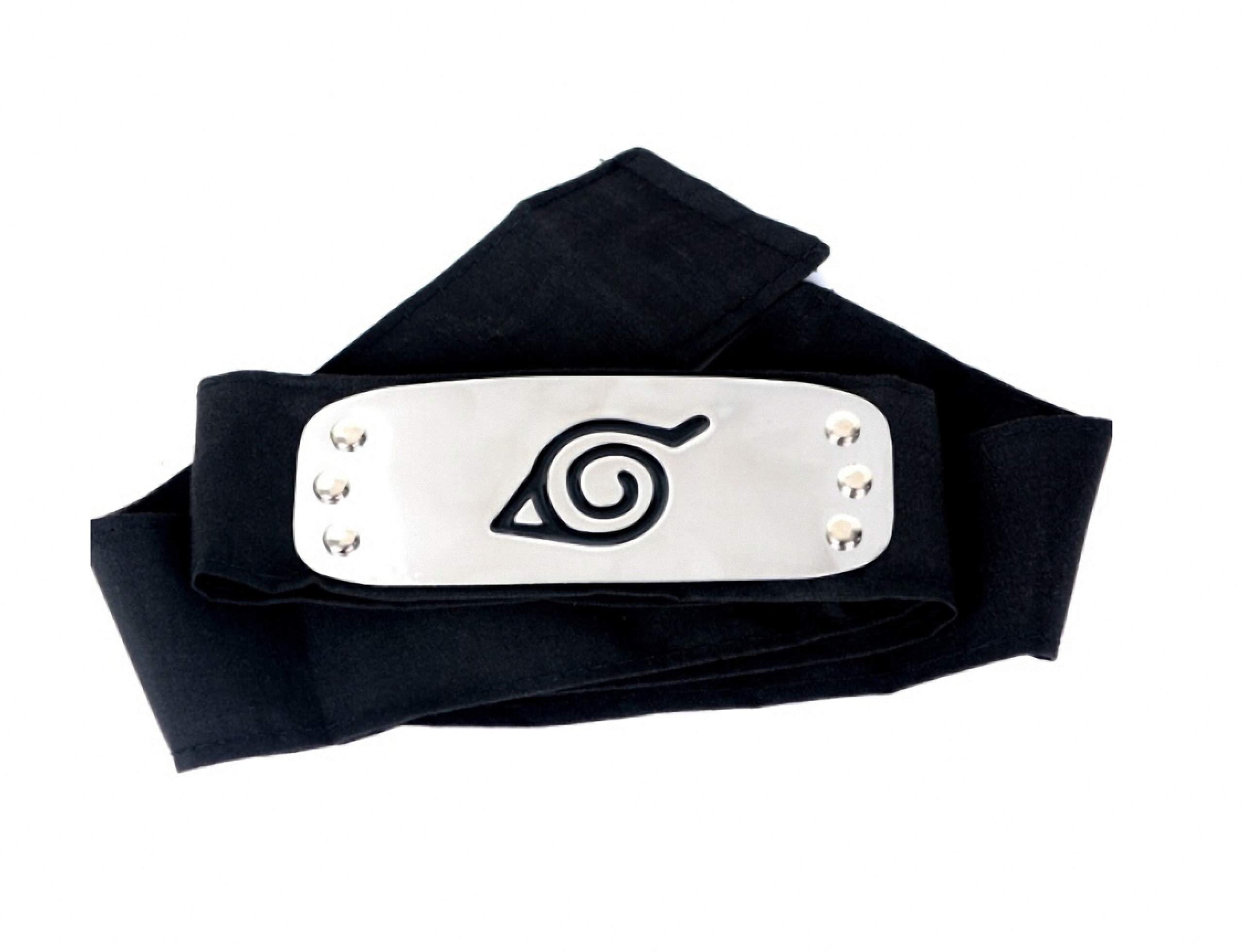 Naruto Headband Konohagakure Shinobi Anime Manga Cosplay Accessories - Black