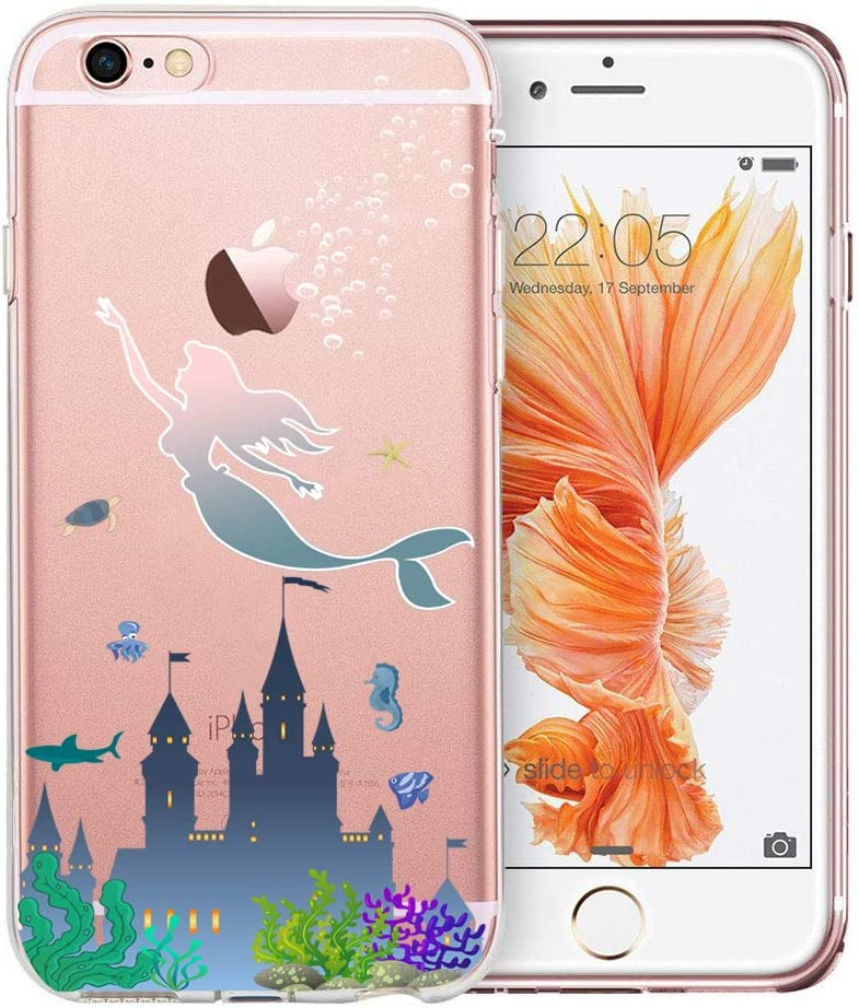 Unov Case Clear with Design Embossed Pattern Soft TPU Bumper Shock Absorption Slim Protective Cover for iPhone 6s iPhone 6 4.7 inch Hanging Sloth