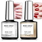 Modelones Gel Top and Base Coat, Gel Nail Polish No Wipe Top Coat Base Coat Set, 2x10ml LED Soak Off New Upgraded…