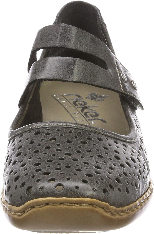 Rieker Damen Slipper grau 41356 42   Schuhe damen, Outfits