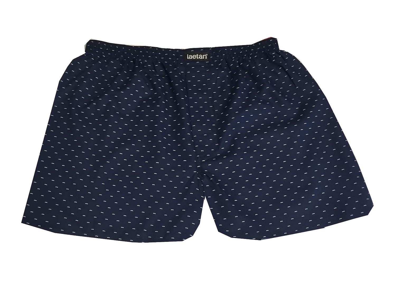 LAETAN Men's 4 Pack Soft Cotton Poplin Boxer, Woven Boxer Short